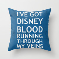 Disney Blood Throw Pillow by Chase Shields