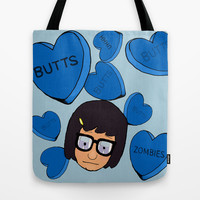 Tina Belcher Tote Bag by Moremeknow   Society6