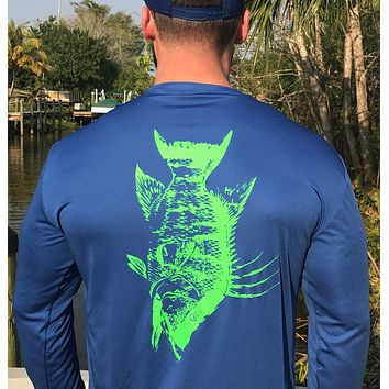 Blue Hogfish UPF Dry Fit Long Sleeve Tee