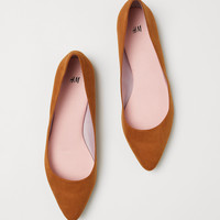 Pointed Flats - Camel - Ladies | H&M US