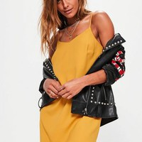 Missguided - Yellow Crepe Shift Dress