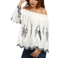 Off Shoulder Boho Top