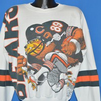 80s Chicago Bears Jack Davis Sweatshirt Large