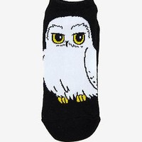 Licensed cool Harry Potter Hedwig Snow Owl No Show Socks ONE Pair 9-11 Magical Creature NWT