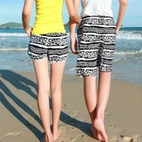 MP Geometrical and Stripes Print Quick Dry Couple Beach Shorts 042211 KDP 0705
