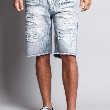 Men's Faded Distressed Shorts