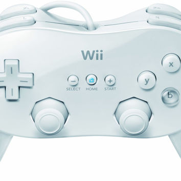 White Wii Classic Controller Pro - Wii (Pre-owned)