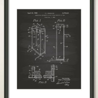 Sanitary Toilet Seat 1922 Patent Art Illustration - Drawing - Printable INSTANT DOWNLOAD - Get 5 Colors Background