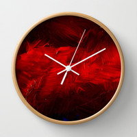Dark Red Wall Clock by Corbin Henry