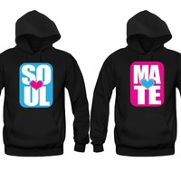 Soul Mate Bright Colors Unisex Couple Matching Hoodies