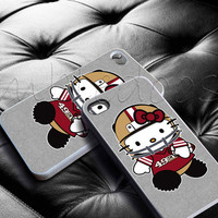 Hello Kitty San Fransisco 49ers for iphone 4/4s, iphone 5/5s/5c case, samsung s3/s4 case cover in mbledoos
