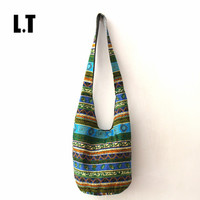2015 Women Vintage Shoulder Bag Aztec Bohemian Hippie Hippy Gypsy Boho Tribal Big Oversized Woven Hobo Sling Yaam Crossbody Bag