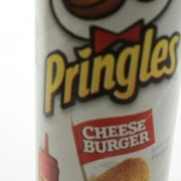 3 Cans Pringles CHEESE BURGER Flavor Potato Crisps Chips LIMITED EDITION 5.96 Oz
