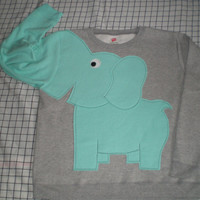 Elephant Trunk sleeve sweatshirt sweater jumper LADiES M ONLY 2 AVAILABLE