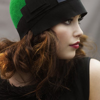 The Emerald Cloche Hat with Ribbon