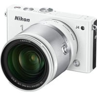 Nikon 1 J4 Digital Camera with 1 NIKKOR 10-100mm f/4.0-5.6 VR Lens (White) (Discontinued by Manufacturer)