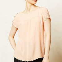 Clipdot Buttoned Tee by Maeve