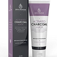 Activated Charcoal Face Mask, Natural Blackhead and Acne Solution. Charcoal Mask Facial Treatment Deep Cleans Pores, All Natural Ingredients.