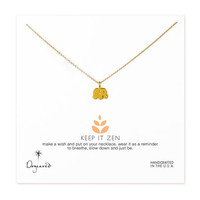 keep it zen elephant necklace, gold dipped, 18 inch