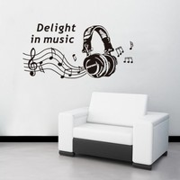 Createforlife Wallpaper Home Decoration Wall Art Fashion Sticker Headphone Music:Amazon:Home & Kitchen