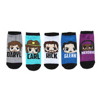 The Walking Dead Chibi Characters No-Show Socks