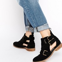ASOS AMY Cut Out Suede Ankle Boots