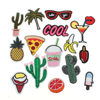 Summer Vacation Embroidered Patch