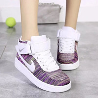 """""""NIKE"""" Fashion Casual Multicolor Flying Weave High Help Shoes Sneakers Women Running Shoes"""