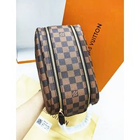 Louis Vuitton LV Fashion New Plaid Bag Handbag Women Cosmetic Bag