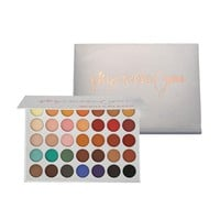 35Color eyeshadow pallete Glitter Makeup Matte Eye shadow Long-lasting make up palette No color persistence natural