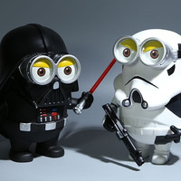Minions cos star wars Stormtrooper 20cm big size toy action Figure