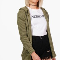 Camille Soft Knit Hooded Cardigan | Boohoo