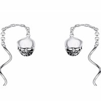 Halloween Party Skull Bone Skeleton Chain Earrings For Women