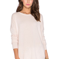 Autumn Cashmere Oversize Chain Sweater in Powder Pink & Silver