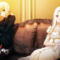 Great Eastern Entertainment Fate Zero Saber and Irisviel Wall Scroll, 33 by 44-Inch
