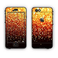 The Faded Gold Glimmer Apple iPhone 6 Plus LifeProof Nuud Case Skin Set