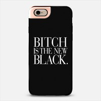 Bitch is the new Black Typography Black & White iPhone 5s case by Rex Lambo | Casetify