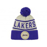 Oatmeal High 5 BeanieLos Angeles Lakers - Mitchell & Ness
