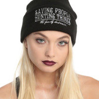 Supernatural Family Business Knit Beanie