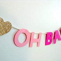 OH BABY Cake Topper/Banner/Baby Shower/Customizable