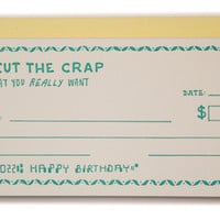 Birthday Check Card