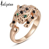 Italina Unique Leopard Series Ring For Women With Austrian Crystal Stellux Party Jewelry #RG91207
