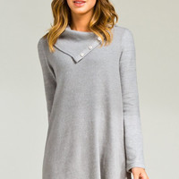 Button Over Dress - Grey