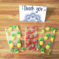 Cute Fruit Patterned iPhone 6, 6S, 6 Plus & 6S+ Cases (in Strawberry/Pineapple)