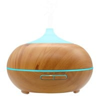 Essential Oil Diffuser, SCOPOW 300ml Wood Grain Cool Mist Aroma Diffuser with [ Timer, Auto Shut-off, 7 Colors Changing ] for Baby Office Home Bedroom Living Room Study Yoga Spa