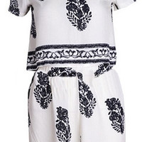 Grace Printed Two Piece Romper