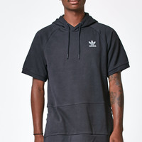 adidas Sport Luxe Black Short Sleeve Pullover Hoodie at PacSun.com