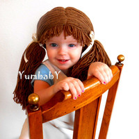Doll Wig Cabbage Patch Inspired Baby Hat Baby Girl Halloween Costume Pageant Hair
