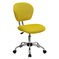 Yellow Mesh Mid-Back Desk Chair - Great For Home Office