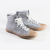 Grey Twill Todd Snyder + Seavees Army Issue High Top Sneaker